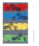 RugStudio presents The Rug Market America Kids Motocross 11767 Grey/blue/red Hand-Hooked Area Rug
